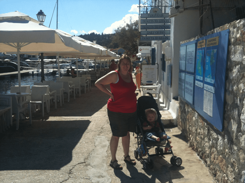 exploring Fiskado on Kefalonia with a toddler
