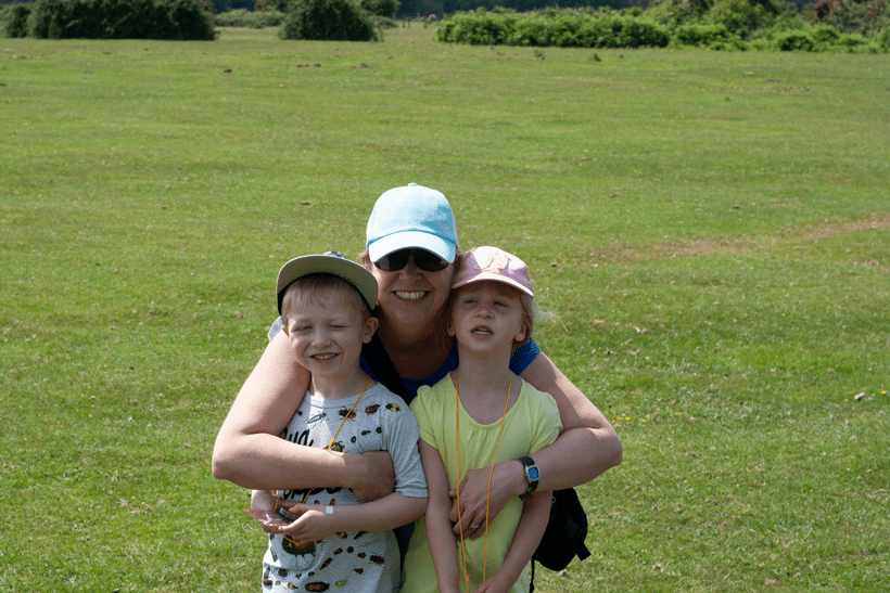 family exploring the New Forest