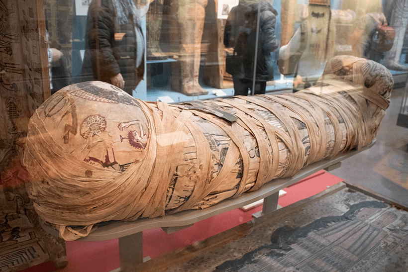 one of the mummies in the British Museum London