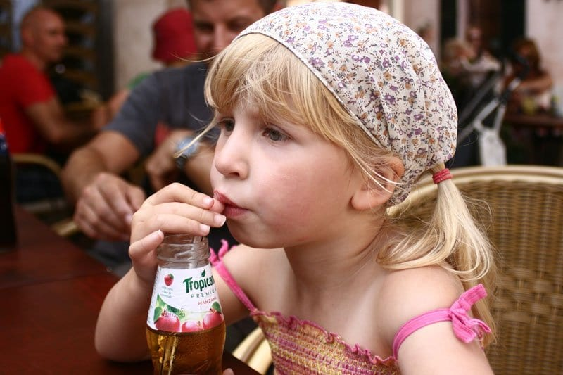cafe time in Pollença main square with kids a treat for any visit