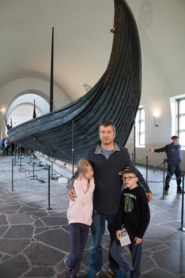 family in the viking ship museum oslo