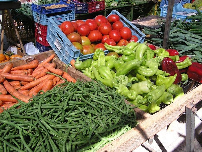 vegetables for sale on the sunday market in Pollença