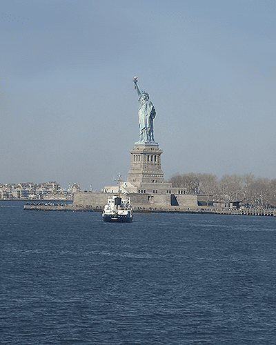 Statue of Liberty from the Staten Island Ferry one of the FREE things to do with kids in NYC