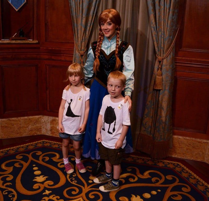 Anna from Frozen with Kids in Walt Disney World