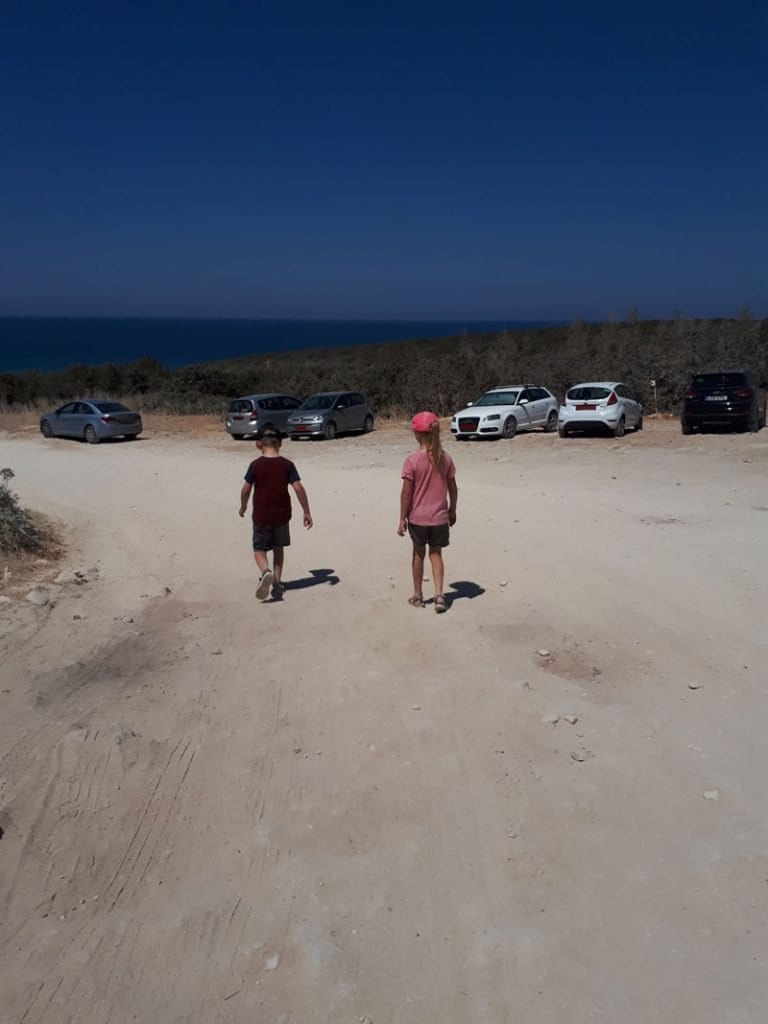 kids exploring the Akamas Peninsula on Cyprus by car and on foot