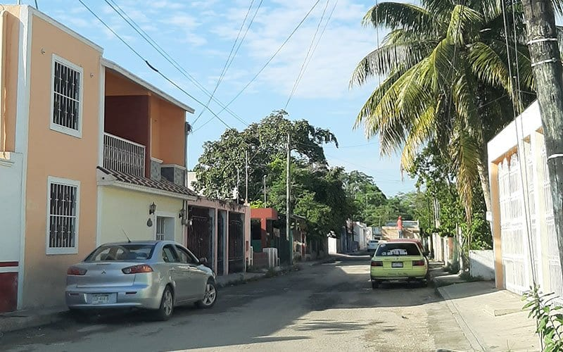 street in Vallodolid in Mexico