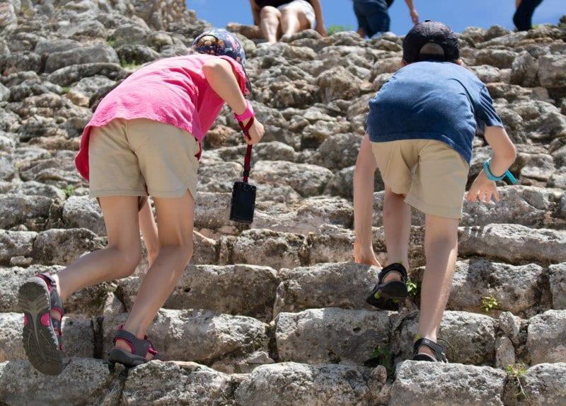 climbing kinich kakmo a mayan pyramid
